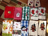 12 christmas hand towels & pot holds oder