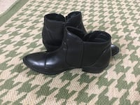 pair of black leather boots Columbus, 43016