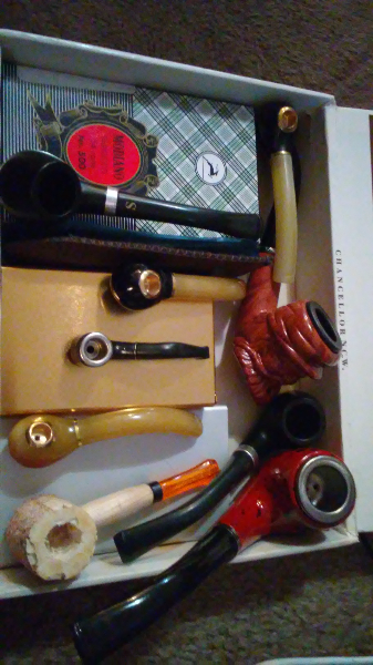 9 pipes for $60 or small r 5, med r 10, large r 15 each