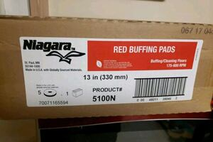 Red buffing pads