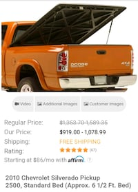 6 x 5 Pick Up Truck Hard Bed Cover  Silver Spring, 20904