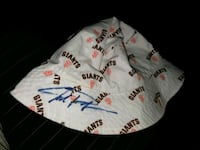 SF Giants toddler sized signed hat San Jose