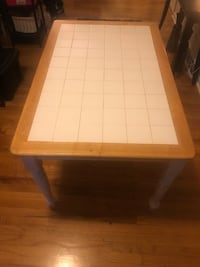 rectangular white and brown wooden table 113 mi
