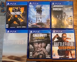 $15 each $45 for all PS4 games 6 total games