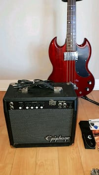 used epiphone electric bass guitar with amp for sale in toronto letgo. Black Bedroom Furniture Sets. Home Design Ideas