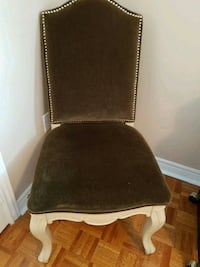 Antique white upholstered chairs in moss green Vaughan, L4H 1V9