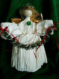 Handmade angel tree topper 93 mi