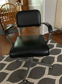 Vintage Eck Adams leather office chair