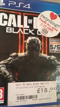 Black ops 3  ps4 game Ossett, WF5