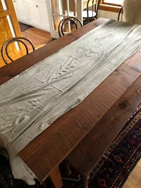 Grey Hand Dyed Table cloth/ table runner