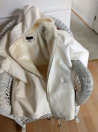 white leather jacket with fur lining
