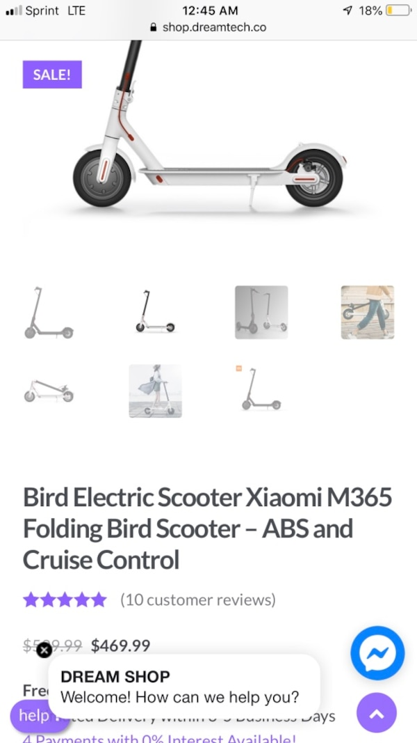 Xiaomi m365 Electric scooter Pickup only cash only