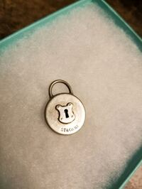 Authentic Tiffany  KEY Hole Pendant. Sterling Silver