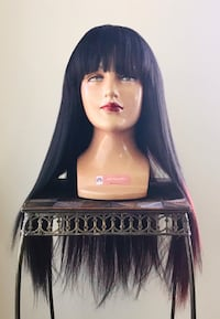 Beautiful Black & Rouge Wig Calgary, T2P