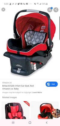 Britax car seat comes with adapter