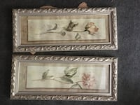 two flowers paintings wall decor Somers, 10589