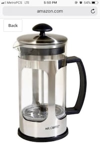 Mr. Coffee French Press(BVMC-AC2) Tampa, 33609