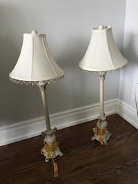 Beautiful French country ivory lamps. Toronto, M6M