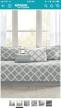 Daybed coverlet set w two sets grey twin sheets Hanover, 21076