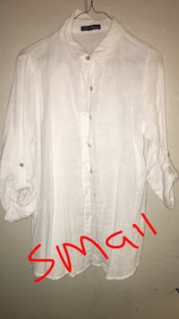 white button-up long-sleeved shirt Midland, 79701