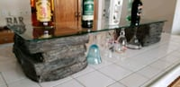 Glass top shelf with fake rock stands  Winchester, 92596