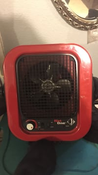 red and black Hot One space heater