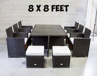 Outdoor patio dining set dinner table and chairs Mississauga, L5M