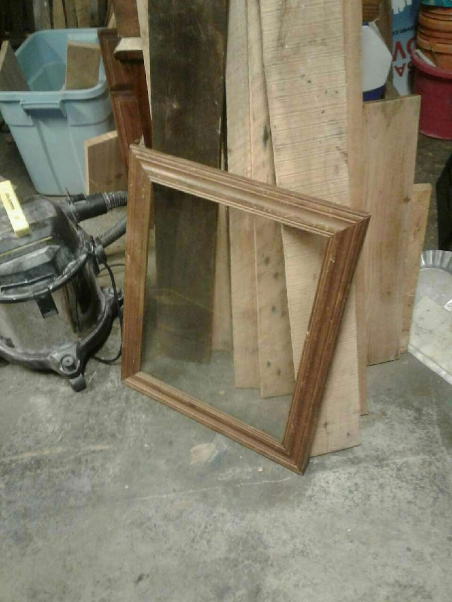 Hardwood real wood picture frames various sizes I