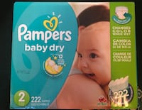 Brand new Pampers (Size 2) 222 count Manassas, 20112