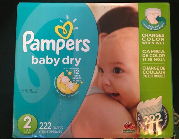 Brand new Pampers (Size 2) 222 count