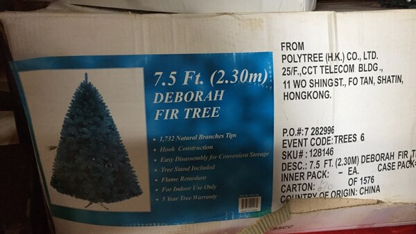 75 ft deborah fir tree box - Polytree Christmas Tree