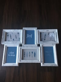 6 picture frame white