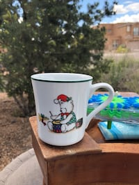 White and green ceramic mug Rio Rancho, 87124