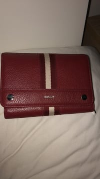 red and brown leather wallet Mississauga, L5B