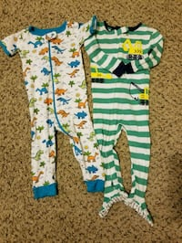 baby's green and blue footie 220 mi