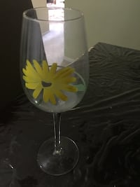 Pier One-Hand painted wine glasses
