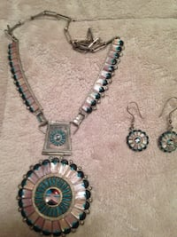 Native American Indian Navajo necklace and earrings set.  Fairfax, 22033