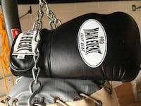 Boxing stand with bag, new gloves and wrist wraps. He'eia, 96744