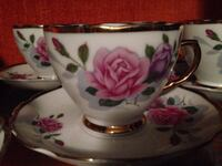China tea cups with saucers set of 4 Toronto, M8Y
