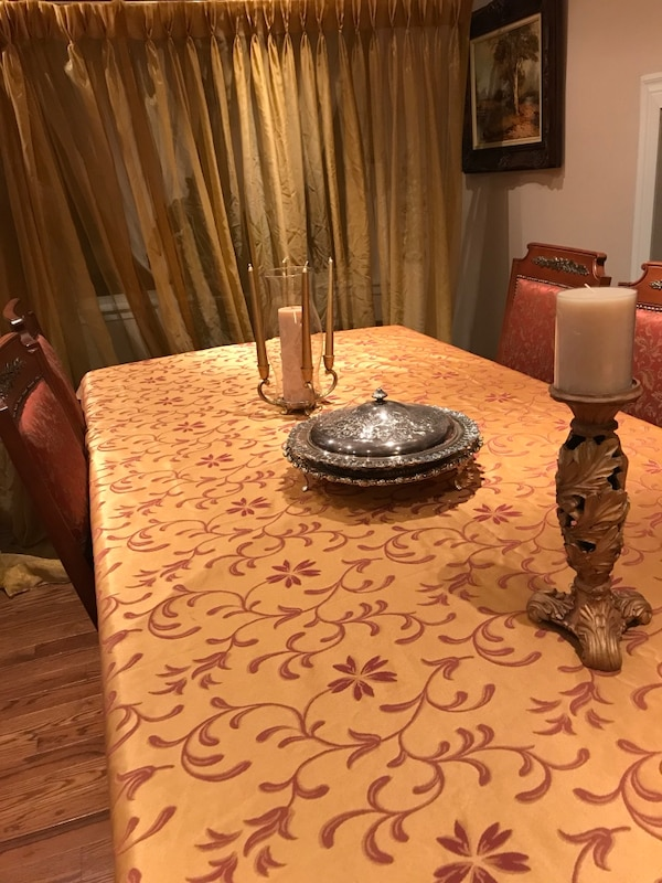 Table cloth and curtains