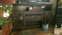 brown wooden framed glass cabinet Sioux Falls, 57105