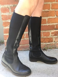 Black leather Alberto Fermani Lia knee-high boots 37/7 Santa Monica, 90405