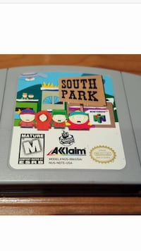 South park nintendo game cartridge
