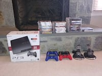PS3, controllers, chargers and 32 games Bristow, 20136