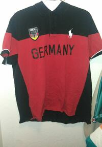 red an black Germany polo shirt