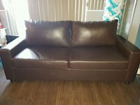 Pull out bed Brown leather 2-seat sofa Mississauga, L5A 3X1