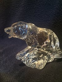 clear glass polar bear figurine