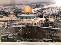 Temple Dome of Israel Rare Snowfall Picture 59 km