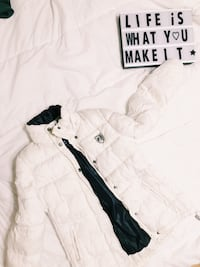 white and black zip-up hoodie Toronto, M1K 1Y7