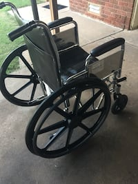 Blue wheelchair/and small set down walker Oklahoma City, 73119